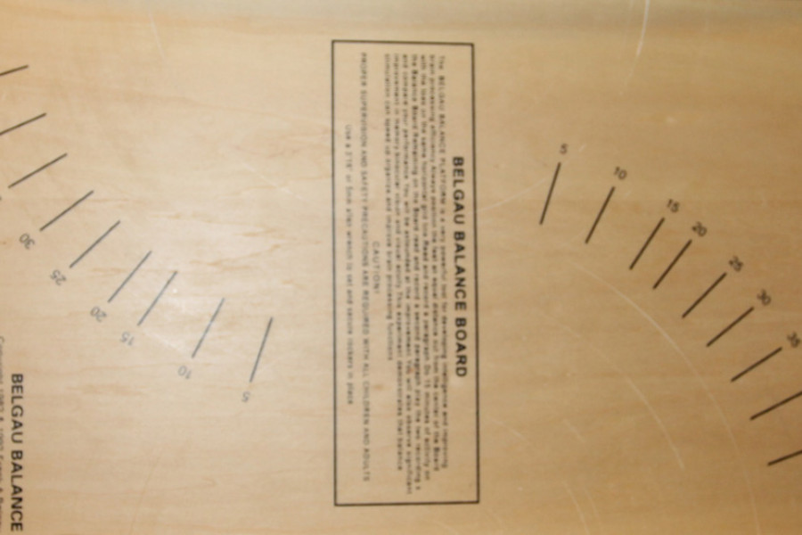 Разметка на нижней части доски Баламетрикс